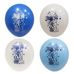 - 1 Yaş Mavi Baskılı Balon 100 'lü