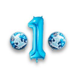 - 1 Yaş Mavi Folyo Balon Set
