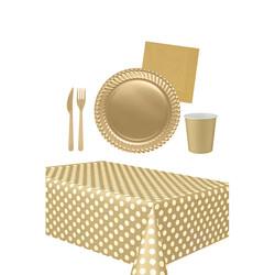 - 16 Kişilik Gold Kullan At Doğum Günü Seti 103 Parça