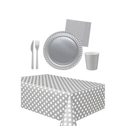 - 16 Kişilik Gümüş Kullan At Doğum Günü Seti 103 Parça