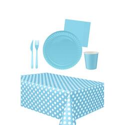 - 16 Kişilik Mavi Kullan At Doğum Günü Seti 103 Parça