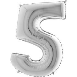 - 5 Rakam Gümüş Folyo Balon 75 Cm
