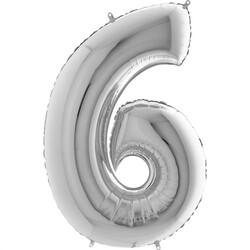 - 6 Rakam Gümüş Folyo Balon 75 Cm