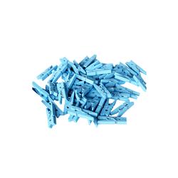 - Ahşap Süs Mandal Mavi