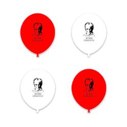- Atam İzindeyiz Baskılı Kırmızı Beyaz Balon