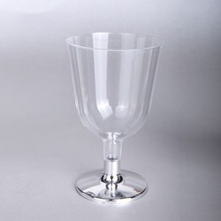 - Ayaklı Plastik Kadeh Gümüş 150 CC 6 'lı