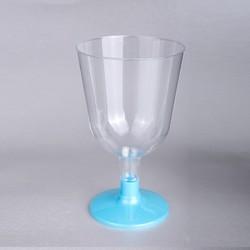 - Ayaklı Plastik Kadeh Mavi 150 CC 6 'lı