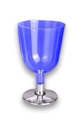 - Ayaklı Plastik Kadeh Mavi Parlak 150 CC 6 'lı