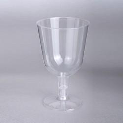- Ayaklı Plastik Kadeh Şeffaf 150 CC 6 'lı