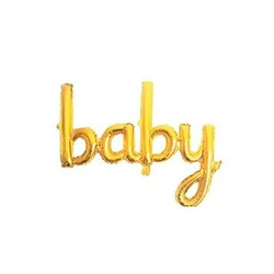 - Baby El Yazısı Folyo Balon Gold