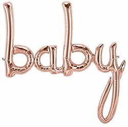 - Baby El Yazısı Folyo Balon Rose Gold