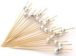 - Bambu İnci Gümüş Kürdan 12 li