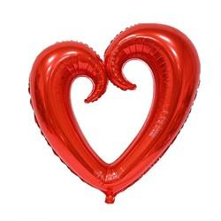 - Çengel Kalp Folyo Balon Kırmızı