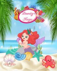 Deniz Kızı Party Banner 3 Metre - Thumbnail