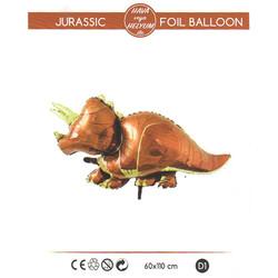 - Dinozor Folyo Balon Kahverengi