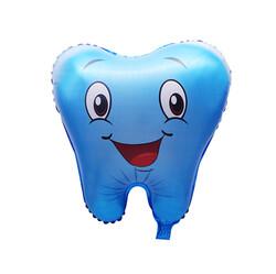 - Diş Şekilli Mavi Folyo Balon 50 cm