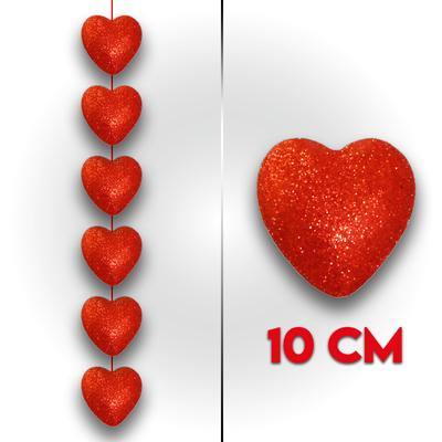 Flok Kalp Simli Sıralı 10 Cm 6 'lı