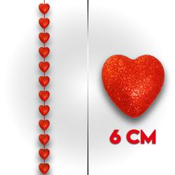 - Flok Kalp Simli Sıralı 6 Cm 12 'li