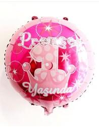 - Folyo Balon Prenses 1 Yaşında 18 inch