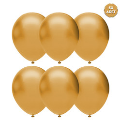 - Gold Metalik Balon 50 'li