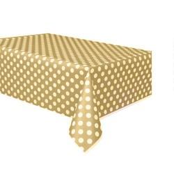 - Gold Puantiyeli Masa Örtüsü