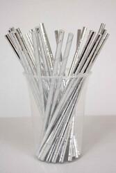- Gümüş Parlak Kağıt Pipet 25 li