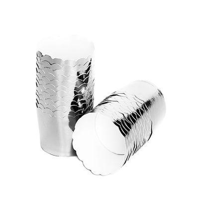 Gümüş Metalik Karton Kek Kapsülü 10 'lu