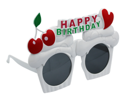 - Happy Bırthday Yazılı Kiraz Figürlü Gözlük