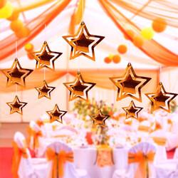 - Helezon Yıldız Tavan Süsü Rose Gold 3 Boyutlu 10 lu