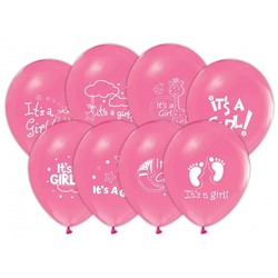 - İt is A Girl Baskılı Balon 6 'li