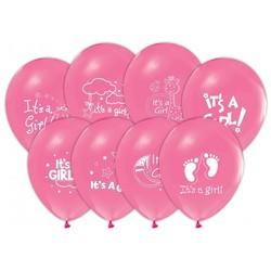 - İt is A Girl Baskılı Balon 6 'li
