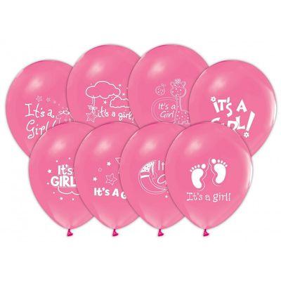 İt is A Girl Baskılı Balon 6 'li
