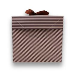 - İthal Katlamalı Kutu Kahverengi Çizgili