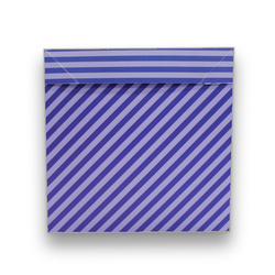 - İthal Katlamalı Kutu Mavi Çizgili
