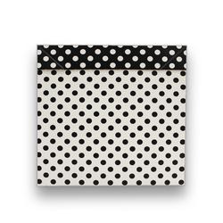 - İthal Katlamalı Kutu Siyah Beyaz Puantiyeli