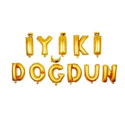 - İyi ki Doğdun Set Gold Folyo Balon 40 Cm