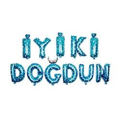 - İyi ki Doğdun Set Mavi Folyo Balon 40 Cm