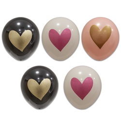 - Kalp Baskılı Balon 8 'li