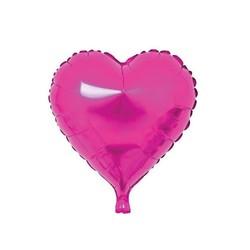 - Kalp Folyo Balon Fuşya 40 Cm (18'')