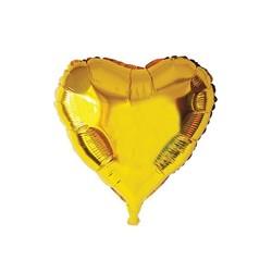 - Kalp Folyo Balon Gold 40 Cm (18'')