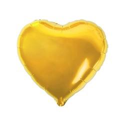 - Kalp Folyo Balon Gold 60 Cm