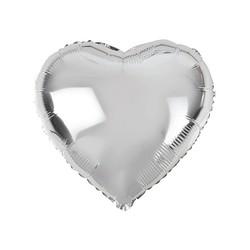 - Kalp Folyo Balon Gümüş 60 Cm