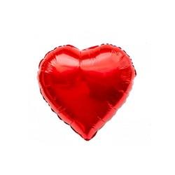 - Kalp Folyo Balon Kırmızı 40 Cm (18'')