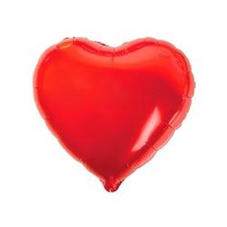 - Kalp Folyo Balon Kırmızı 60 Cm (22'')