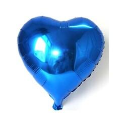 - Kalp Folyo Balon Mavi 40 Cm (18'')