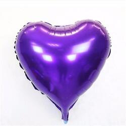 - Kalp Folyo Balon Mor 60 Cm (22'')