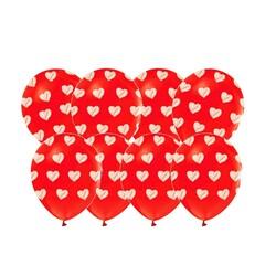 - Kalp Puantiyeli Lateks Balon 100 Lü