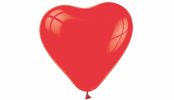 - Kalp Şekilli Lateks Balon 8 li