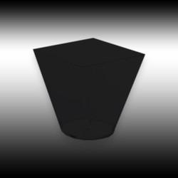 - Kare Kase 240 ML Siyah 24 'lü