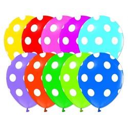 - Karışık Puantiyeli Baskılı Balon 100 'lü